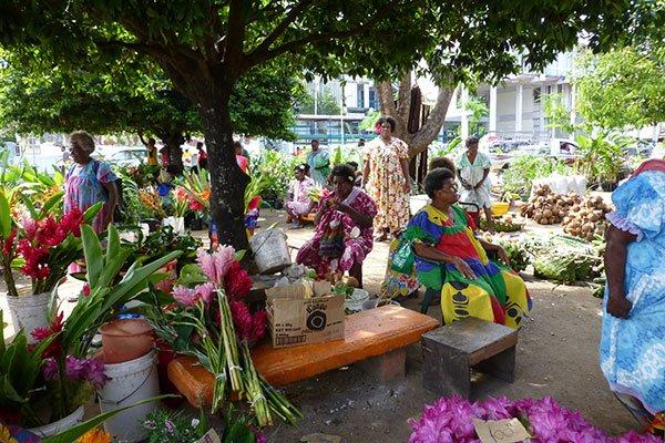 Vanuatu street market